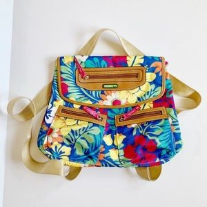 Lily Bloom Mindy Hibiscus Convertible Backpack